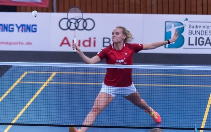Kristin Kuuba TSV1906 Freystadti eest mängimas