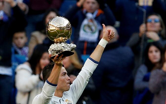 Mullu pälvis Ballon d'Ori Cristiano Ronaldo