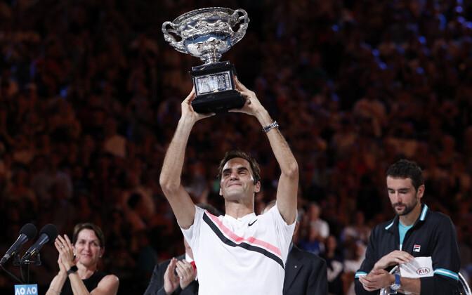Tänavustel Austraalia lahtistel võidutses meeste üksikmängus Roger Federer