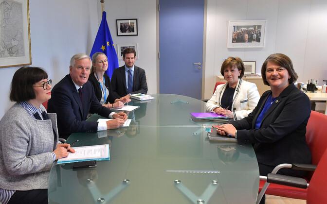 Michel barnier' ja Arlene Fosteri kohtumine Brüsselis 9. oktoobril.