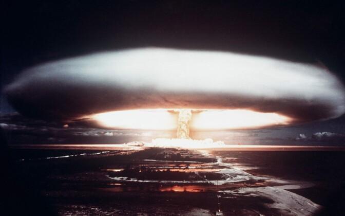 Prantsusmaa tuumakatsetus Mururoa atollil 1971. aastal