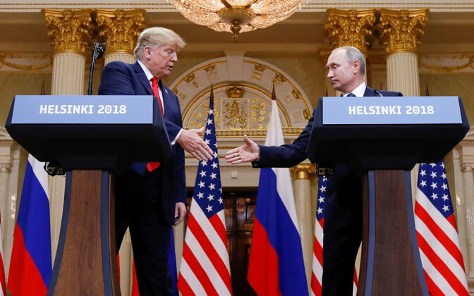 Trump ja Putin kahepoolsel kohtumisel Helsingis käesoleva aasta 16. juulil.