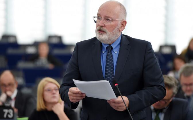 Euroopa Komisjoni asepresident Frans Timmermans europarlamendis.