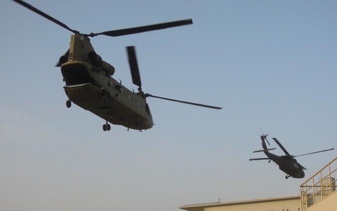 Helikopterid Afganistanis. Illustreeriv foto.
