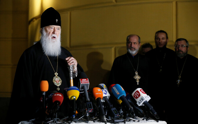 Ukraina õigeusu kiriku patriarh Filaret andmas pressikonverentsi