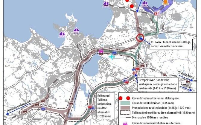 Ringraudtee plaan Harju maakonnaplaneeringus 2030+.