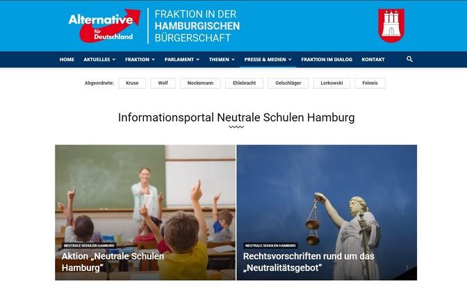 Info õpilaste jaoks avatud portaalist AfD veebilehel.