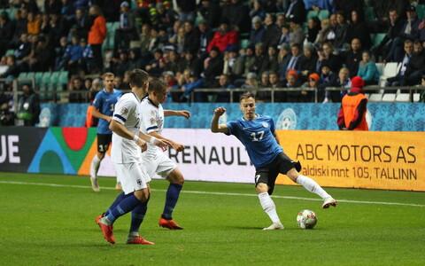 UEFA Rahvuste liiga mäng Eesti - Soome Lilleküla staadionil