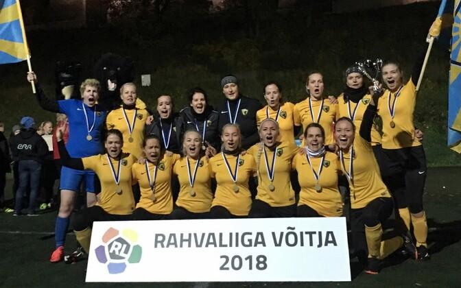Naiste rahvaliiga võitis teist aastat järjest Pärnu Vaprus.