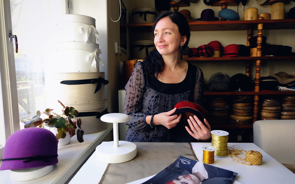 Erle, the owner of Ardiisia, in her studio in Tartu. 12 October 2018.
