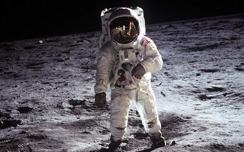 Buzz Aldrin, teisena Kuu pinnale astunud inimene..
