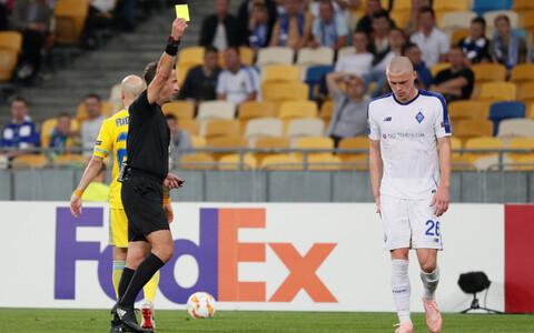 Halis Ozkahya ametis Euroopa liiga kohtumisel Kiievi Dünamo ja Astana vahel.
