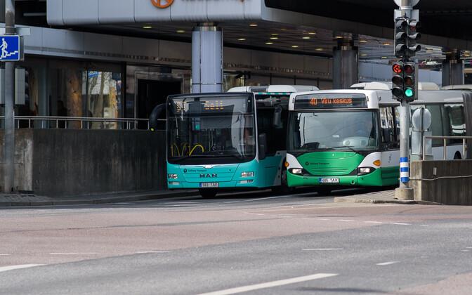 Tallinna linnaliinibussid kesklinnas