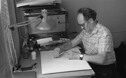 Eesti Televisiooni kunstnik Guido Pant. Juuli 1985