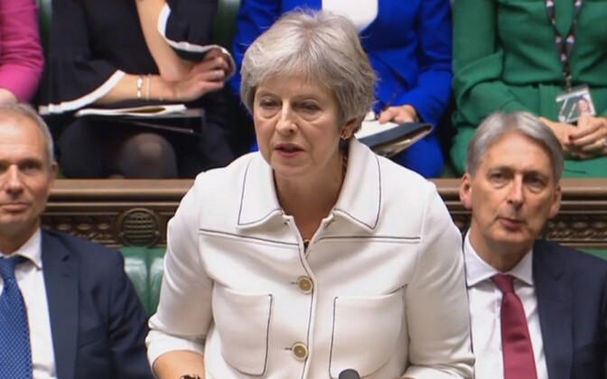 Briti peaminister Theresa May parlamendis.