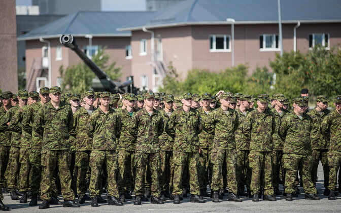 The 1st Infantry Brigade at a formation this summer.