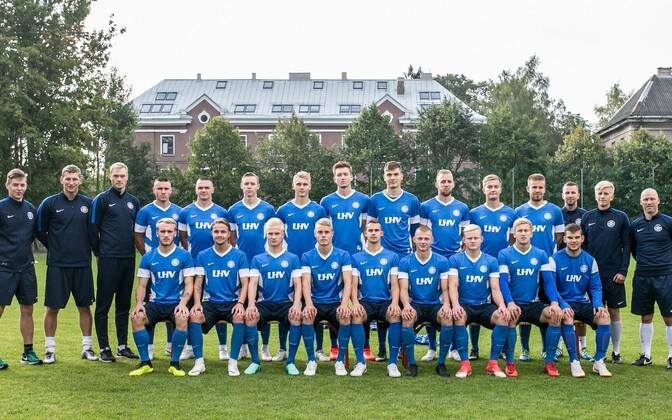 Молодые эстонские футболисты оказались последними в своей группе.