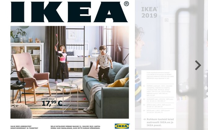 IKEA's first Estonian-language online catalogue.