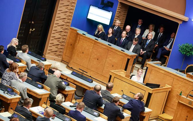 The Riigikogu in session.