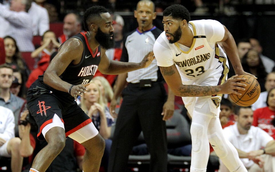 James Harden (vasakul) ja Anthony Davis