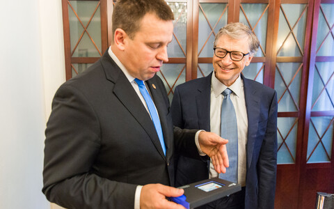 Jüri Ratas and Bill Gates, 18 October 2018.