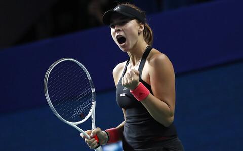 Estonia's top-ranked tennis star Anett Kontaveit.