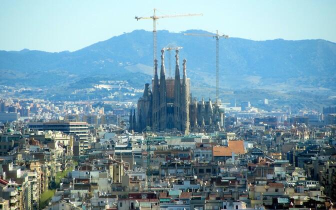 Собор Саграда-Фамилия в Барселоне.