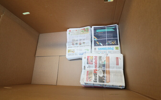 A selection of national and local dailies, ready for delivery.