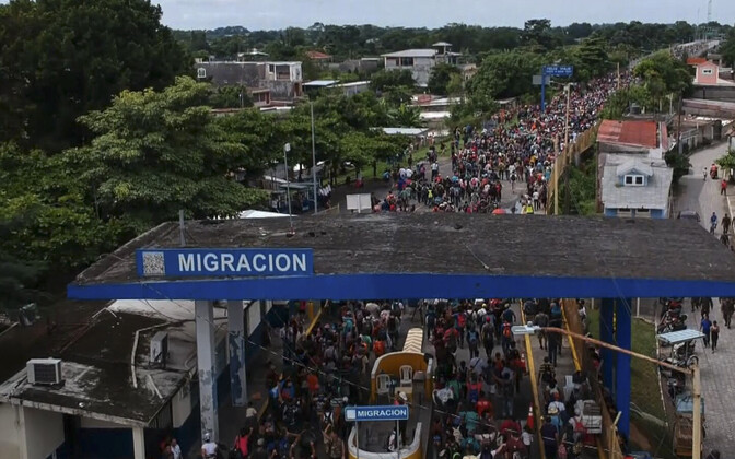 USA-sse suunduv Hondurase migrantide karavan.