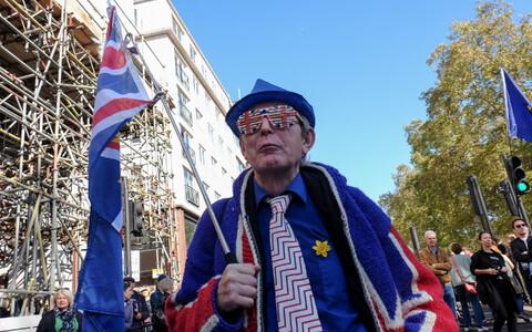 Акция протеста сторонников членства в ЕС в Лондоне