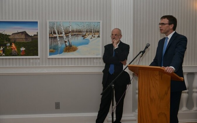 Mikser speaking at the New York Estonian House, October 2018.
