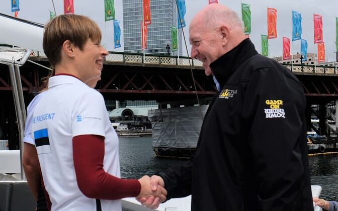 President Kersti Kaljulaid and Australian Governor-General Peter Cosgrove attend a sailing event of the Invictus Games during her visit to Australia.