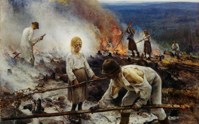 Ale tegemine oli omal ajal laialt levinud. Pildil Eero Järnefelti maal.