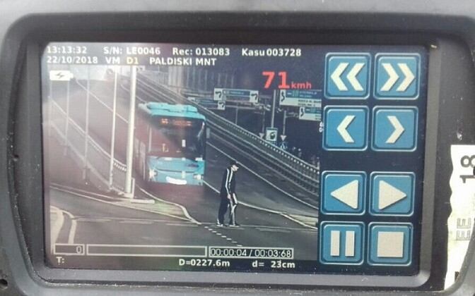 Bussijuht ületas kiirust 20 km/h.