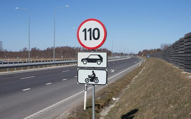 110 km/h sõita lubavad märgid korjatakse selleks aastaks ära