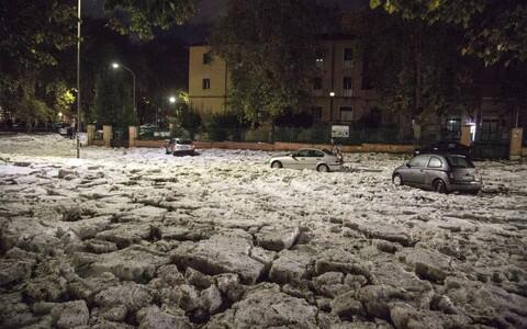 Рим под водой и льдом.