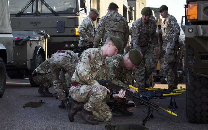 British troops arriving in Norway for NATO's Trident Juncture exercise.