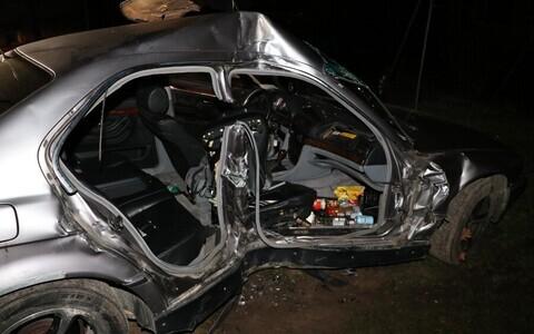 Аварийный автомобиль в Валга.