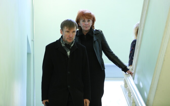 Eesti Kontserdi nõukogu liikmed Margus Pärtlas ja Tea Varrak pärast koosolekut.