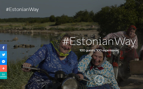 The #EstonianWay site on Visit Estonia's homepage.