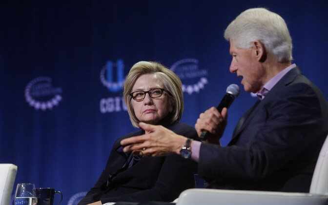 Хиллари и Билл Клинтон.