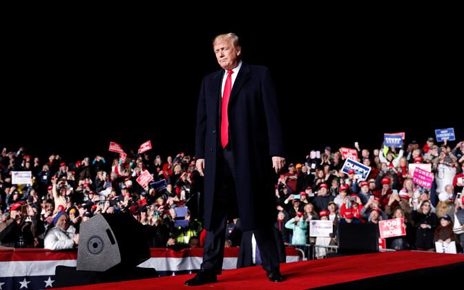 USA president Donald Trump 24. oktoobril vahevalimiste kampaaniaüritusel Wisconsinis.