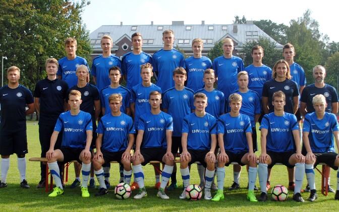 Юношеская сборная Эстонии по футболу.
