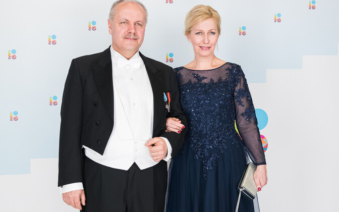 Riigikogu liige Henn Põlluaas ja abikaasa Janne.