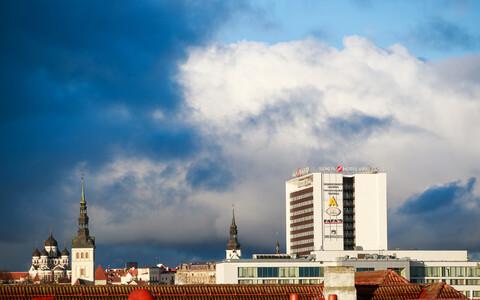 Sügisene taevas Tallinna kohal.