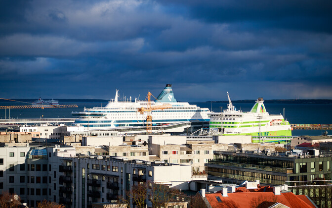 Tallink ships in port in Tallinn.