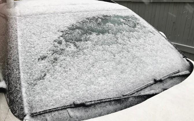 Снег в Хаапсалу.