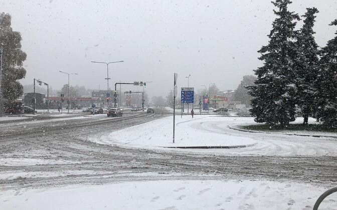 Снег в Тарту.