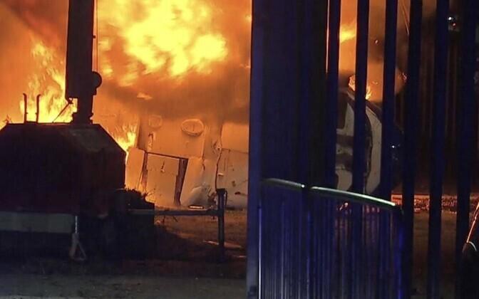 Vichai Srivaddhanaprabha helikopter kukkus alla, misjärel süttis tulekahju