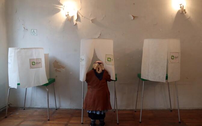 Gruusia presidendivalimised Tbilisis.